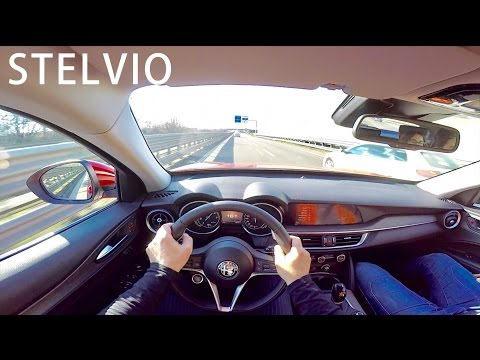 Alfa Romeo Stelvio 2.0L Turbo 280hp Pov Driving & Overview