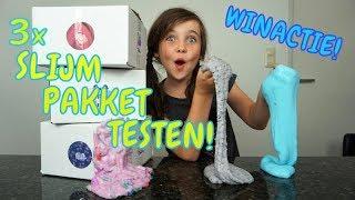 DIY - 3 DIY SLIJM PAKKETTEN TESTEN!! + WINACTIE (GESLOTEN) - Bibi