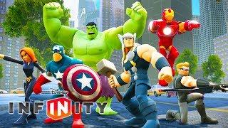 OS VINGADORES Super Heróis Jogos de Desenho Animado em Português Dublado - Disney Infinity 2.0