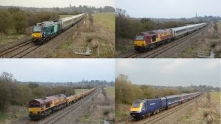 First Great Western HST & Chiltern Loco Hauled   Kings Sutton, Easter 2015
