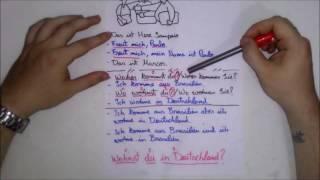 Conversação básica em Alemão #parte 2 I Curso de Alemão básico nível A1 Aula #5