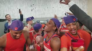 Gabe DeVoe and team dancing after 31 point win over Auburn