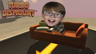 FALLING OFF A CLIFF ON A SOFA! Turbo Dismount | Steam Game