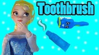 Disney Frozen Queen Elsa Toothbrush Brushing Teeth Shopkins Food Frozen Doll Play