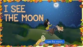 I See The Moon - Popular English Nursery Rhymes With Lyrics Cartoon Animation