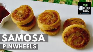 samosa pinwheels recipe | samosa bites recipe | aloo bhakarwadi recipe | how to make samosa pinwheel