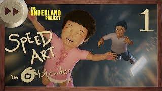 The Fall   PART 1 - Setting up the Scene   BLENDER SPEED ART