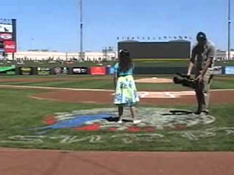 Talented 10 Year Old Sings National Anthem at 2011 MLB Spring Training Game
