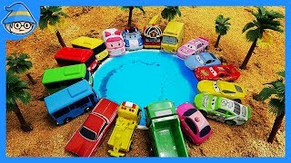 Car toys collection. Play with car toys in dirt and water. car toys videos for kids.
