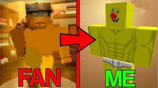 CHANGING MY CHARACTER INTO FANS! (Roblox)