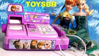 TOYSBR FROZEN CASH REGISTER TOY | Caixa Registradora das Princesas Anna Elsa Disney Frozen Fever