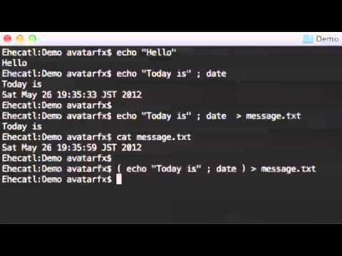 Bash tutorial - Standard output and error.