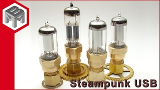 How to make Steampunk vacuum tube USB drives