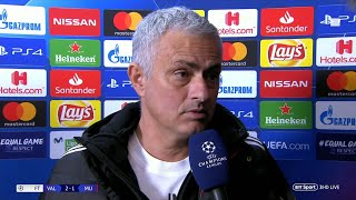 """""""We scored twice and lost 2-1!"""" Mourinho reacts to Man Utd's loss in Valencia"""