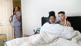 CAUGHT IN BED WITH BOYFRIEND PRANK ON ANGRY MOM!!