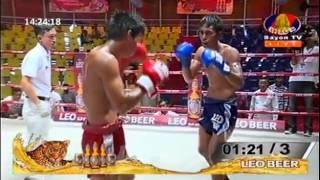 Khmer Thai Boxing, Phang Sophors Vs Chheun Chhai Den, Khmer Boxing 02 April 2015