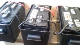Installing 4kW/Hr battery bank with 800W 120V Inverter and Trickle Charger from Tactical Woodgas