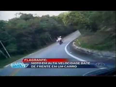 Flagra de Acidente de Moto Brasil Urgente 24 05 2010