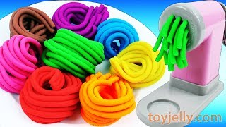 Learn Colors Play Doh Pasta Machine Making Spaghetti Surprise Toys Peppa Pig Disney Fun for Kids