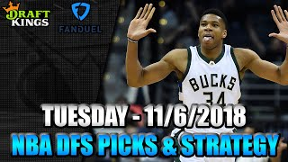 11/6/18 - NBA FanDuel & DraftKings Picks - Lineup Strategy
