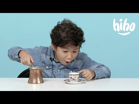 Coffee American Kids Try Food from Around the World Ep 7 Kids Try Cut