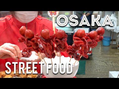 Street Food Tour of Kuromon Market in Osaka Japan