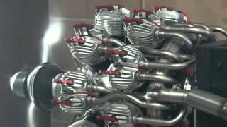 18-Zylinder Doppelstern mit 700 ccm, Probelauf