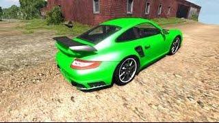 BeamNG Drive Alpha Porsche 911 GT2 v4.1 Crash Testing #29 HD