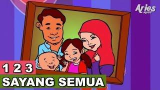 Lagu Kanak Kanak Alif & Mimi - 1 2 3 Sayang Semuanya (Animasi 2D)