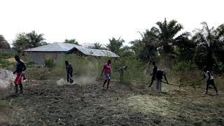 AYPAD MAKENI CHAPTER MEMBERS ON AGRICULTURAL SITE CLEANING