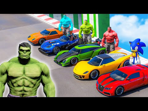 HULK ARMY Racing CHALLENGE Team Superheroes Race Challenge with Supercars competition 8