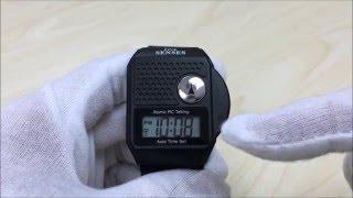 TIMECHANT M109 - SENSES Top Button Atomic RC Digital Talking Watch