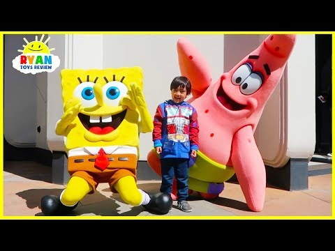 Xxx Mp4 Ryan Meets SpongeBob At Universal Studios Amusement Park 3gp Sex