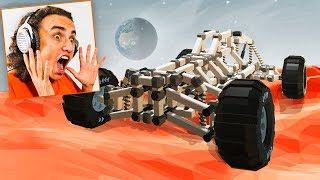 BUILD YOUR OWN ROVER ON MARS! (Rover Builder Funny Moments)