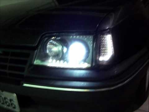 Meu Kadett SL faróis setas e lanternas com leds