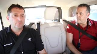 Mercedes Benz V Class on Dubai roads with Roland Schneider