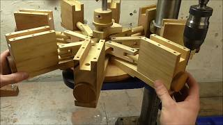 Assembling The Wooden 8 Cylinder Radial Air Engine