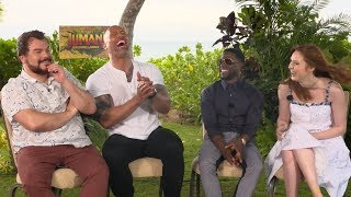 'Jumanji: Welcome to the Jungle' | Unscripted | Dwayne Johnson, Kevin Hart, Jack Black, Karen Gillan