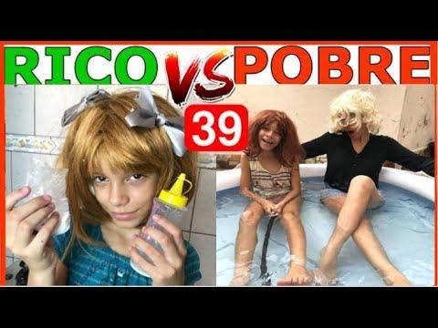 RICO VS POBRE FAZENDO AMOEBA SLIME 39