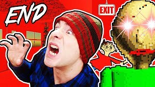 WE ESCAPED! I GOT THE ENDING! // Baldi's Basics in Education and Learning ENDING (7/7 Notebooks)