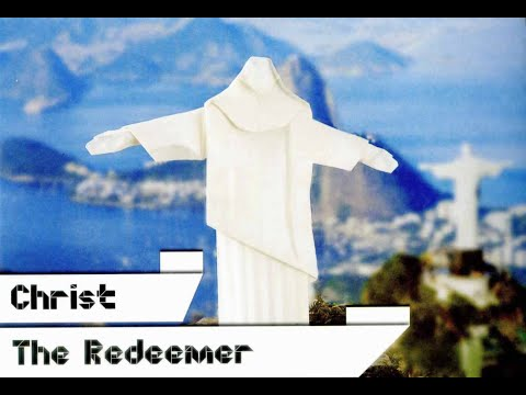 Olympics Origami: christ the redeemer by Shuki Kato