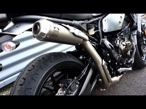 Yamaha XSR700 AKRAPOVIC EXHAUST Sound