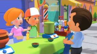 Handy Manny helps Kelly make some chilli