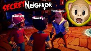 I AM THE NEIGHBOR!! | Secret Neighbor w/ DanTDM, Jemma, ThnxCya