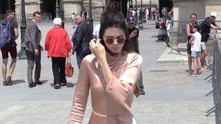 EXCLUSIVE: Kendall Jenner goes for lunch at the Louvres before Givenchy show in Paris