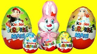 Kinder Surprise Eggs Easter 2017 Giant Kinder Eggs and Bunny Surprise Opening