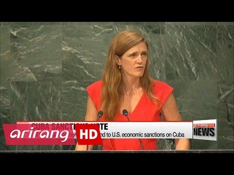 UN General Assembly calls for end to U.S. economic sanctions on Cuba