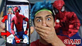 DO NOT FACETIME SPIDER-MAN AT 3AM!! *OMG HE CAME TO MY HOUSE*