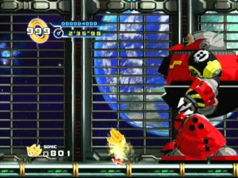 Sonic the Hedgehog 4 Episode 1 Egg Station Zone As Super Sonic Wii