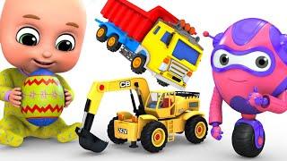 Kids Toys - Easter Egg   Big Crane Construction Truck   Unboxing Surprise Eggs from jugnu Kids